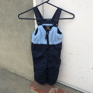 Blue boys snow pant overalls